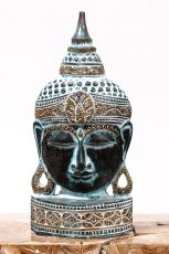 Busta Buddha - bytová dekorace, dřevořezba Indonésie ID1702005