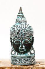 Busta Buddha - bytová dekorace, dřevořezba Indonésie ID1702006