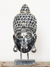 Busta Buddha - bytová dekorace, dřevořezba Indonésie ID1701001