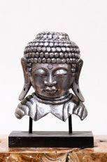 Busta Buddha - bytová dekorace, dřevořezba Indonésie ID1701003-01