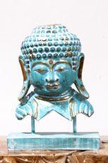 Busta Buddha - bytová dekorace, dřevořezba Indonésie ID1701003-02