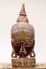 Busta Buddha - bytová dekorace, dřevořezba Indonésie ID1702001A