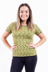 Dámské tričko, ruční tisk Nepál  NT0100-43-006