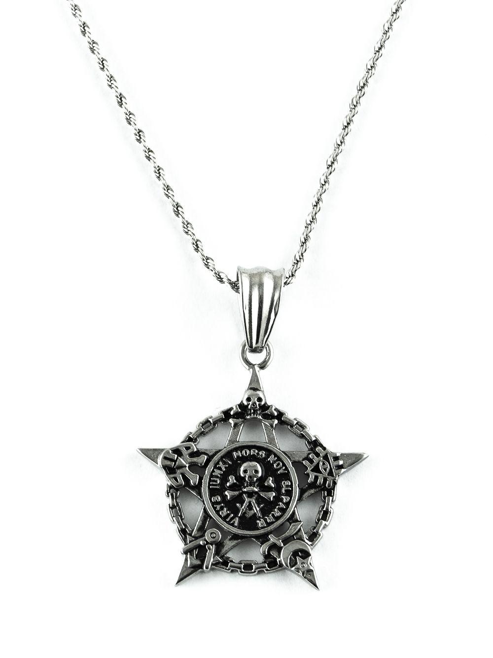 Řetěz na krk s přívěskem z chirurgické oceli - H3S0136B