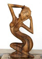 Socha abstrakt 80 cm z tvrdšího dřeva - ŽENA  ID17028011