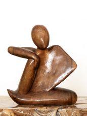 Socha ČLOVĚK abstrakt, dekorace 30 cm, dřevo Indonésie  ID1709712