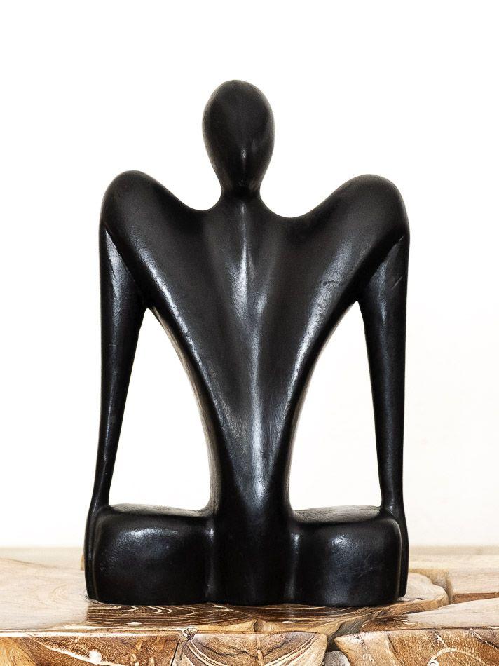 Socha ČLOVĚK abstrakt, dekorace 30 cm, dřevo Indonésie - ID1709713