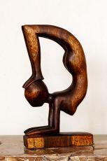 Socha GYMNASTKA, dekorace 41 cm, dřevo Indonésie  ID17016029
