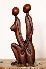 Socha Milenci - - abstrakt 50 cm dřevo suar ID1701628