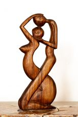 Socha Milenci - - abstrakt 50 cm dřevo suar ID1701630