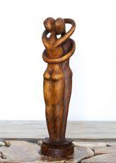 Socha Milenci - - abstrakt 51 cm dřevo suar ID1701636
