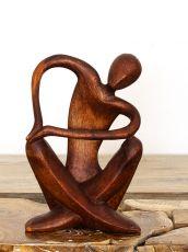 Socha SEPNUTÉ RUCE abstrakt 30 cm, dřevo Indonésie  ID1701635