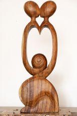 Socha DVA abstrakt, 100 cm, dřevo Indonésie  ID1601302