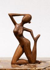 Socha ŽENA abstrakt, dekorace 30 cm, dřevo Indonésie  ID1701605