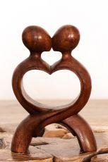 Soška Milenci abstrakt dřevo suar Indonésie 20 cm ID1604838