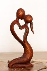 Soška Milenci abstrakt dřevo suar Indonésie  ID1604830
