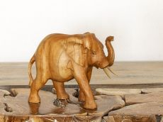 Soška SLON dřevo masiv délka 29 cm  ID1603108
