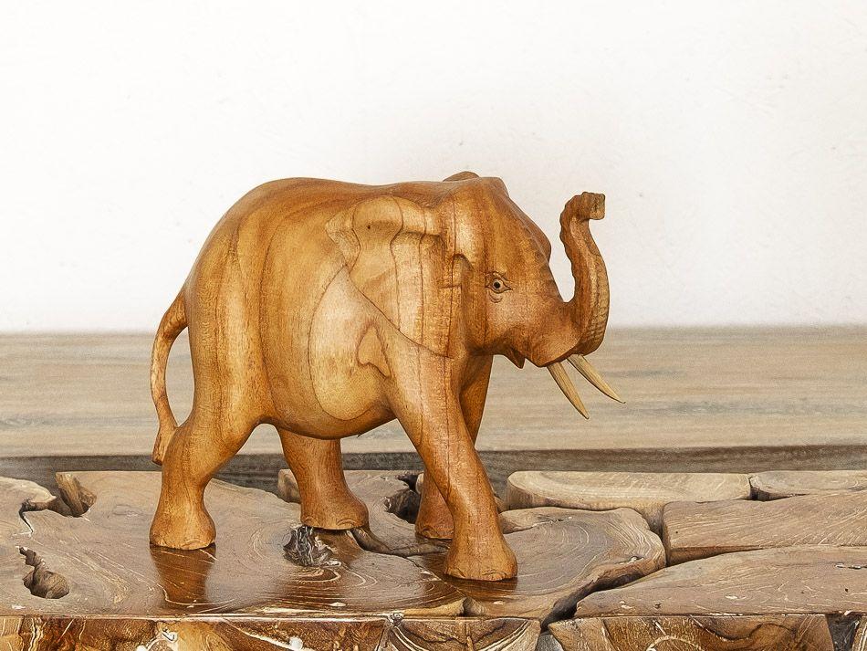 Soška SLON dřevo masiv délka 29 cm - ID1603108
