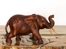 Soška SLON dřevo masiv délka 36 cm  ID1710001