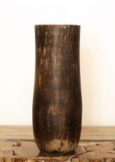 Váza kokosová palma s řezbou 60 cm,  Indonésie ID1703703-01