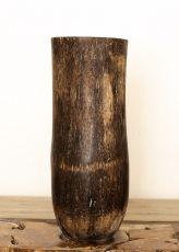 Váza kokosová palma s řezbou 60 cm,  Indonésie ID1703703-02