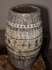 Váza kokosová palma s řezbou 75 cm,  Indonésie ID1601912