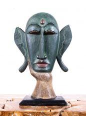 Busta - maska  - bytová dekorace, dřevořezba Indonésie ID1702615
