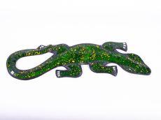 Dekorace na zeď Ještěrka zelená 40 cm - ID1715038-03