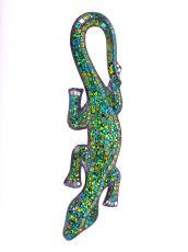 Dekorace na zeď Ještěrka zelená s tyrkysovou 40 cm - ID1715038-06
