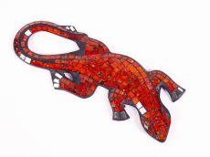 Dekorace na zeď Ještěrka červená 30 cm - ID1715039-02