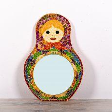 Dekorativní interiérové zrcadlo - skleněná mozaika atyp 60 cm  ID1602609
