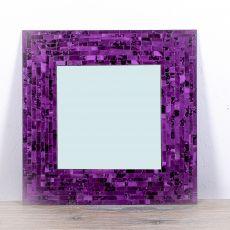 Dekorativní interiérové zrcadlo - skleněná mozaika hranaté 60 cm  ID1602607