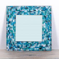 Dekorativní interiérové zrcadlo - skleněná mozaika hranaté 60 cm  ID1602608