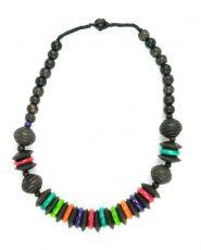 Dřevěný náhrdelník  - IS0042-02-043