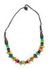Dřevěný náhrdelník  - IS0042-02-044