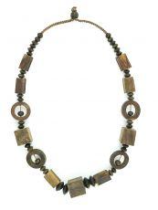 Dřevěný náhrdelník  IS0042-02-049