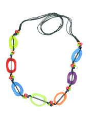 Kostěný náhrdelník s dřevěnými korálky IS0042-02-074