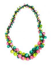Dřevěný náhrdelník MULTI - IS0042-02-038