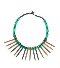Dřevěný náhrdelník s přívěškem ze dřeva SONO IS0003-010