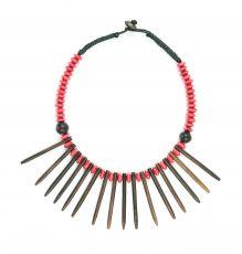 Dřevěný náhrdelník s přívěškem ze dřeva SONO IS0003-011