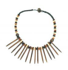 Dřevěný náhrdelník s přívěškem ze dřeva SONO - IS0003-012