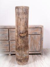 Váza kokosová palma s řezbou 120 cm,  Indonésie ID1702802-01