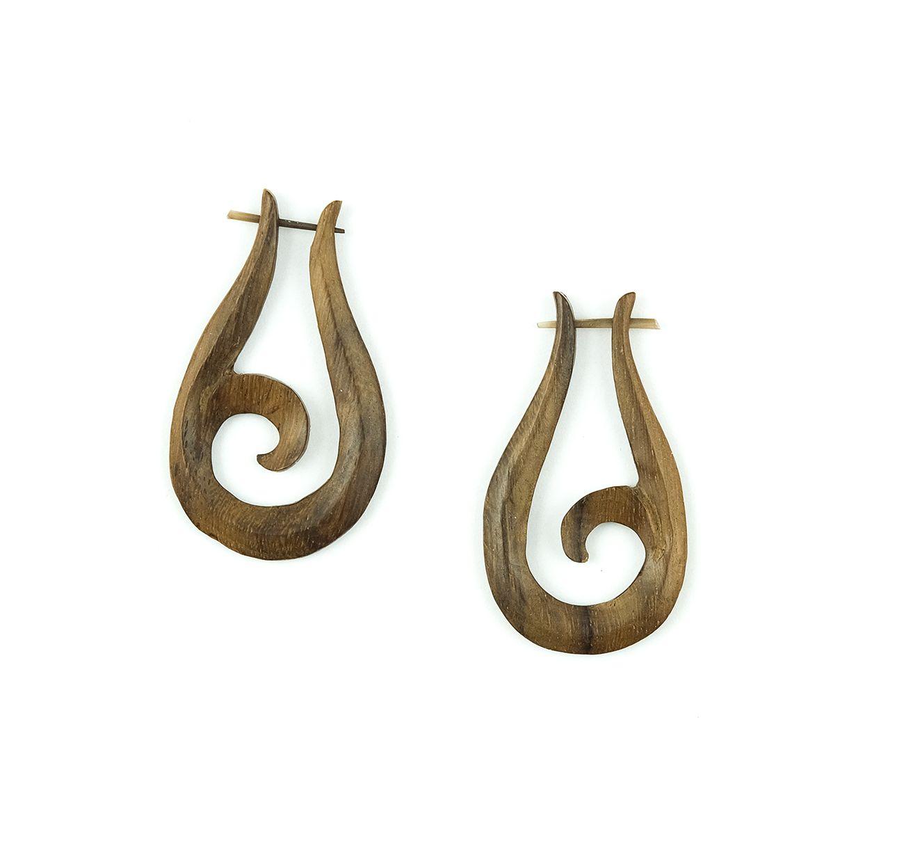 Náušnice ze dřeva SONO - IS0012-01-019