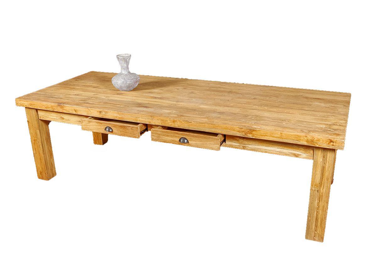Originální masivní stůl 260 cm z teakového dřeva - ID1625001