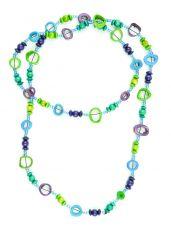 Perličkový náhrdelník s kostěnými kousky  IS0042-02-053