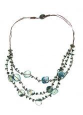Perličkový náhrdelník s perleťovými kousky  IS0042-02-076