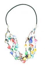 Perličkový náhrdelník s perleťovými kousky  IS0042-02-075