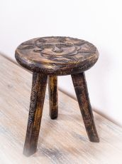 Stolička SUN AND MOON dřevo, dekorované, ruční kusová výroba - ID1712510