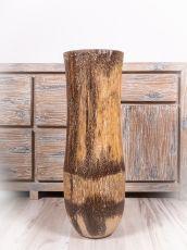 Váza kokosová palma s řezbou 80 cm,  Indonésie ID1703702-01