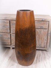 Váza kokosová palma s řezbou 100 cm,  Indonésie - ID1601903